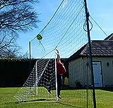 Open Goaaal! Standard - Fußballtor 2,7m*1,6m, Ballfangnetz umlaufend integriert, gleichzeitig Rebounder Rückprallwand, Ballfangnetz Variable Breite von 3,7m - 6,6m, 3m Höhe