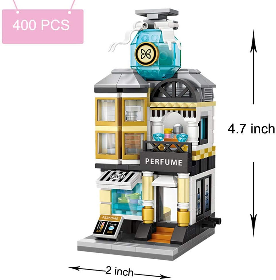 Blocks Building Toys Mini Street Blocks for Kids and Adults,3D Architecture Block Building Set DIY Bricks Toy for Intelligence Education