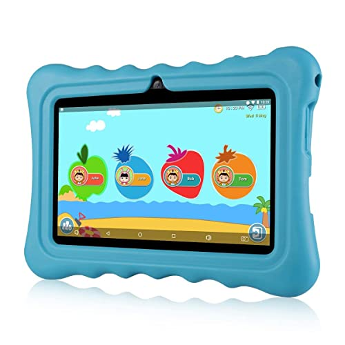 """7"""" Kids Tablet PC Ainol Q88 Android 7.1 1G RAM 8 GB ROM Tablet GMS Google Certified External 3G Portable Kid-Proof Silicone Case Dual Cameras Netflix & YouTube Supported (Blue)"""