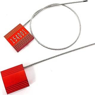 Largeur 400 mm Num/érotation cons/écutive marqu/ée /à chaud 100 Scell/é de s/écurit/é pour porte de emergence Couleur: Rouge Mati/ère: Polypropyl/ène