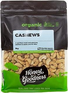 Honest to Goodness Organic Cashews, 1 kg