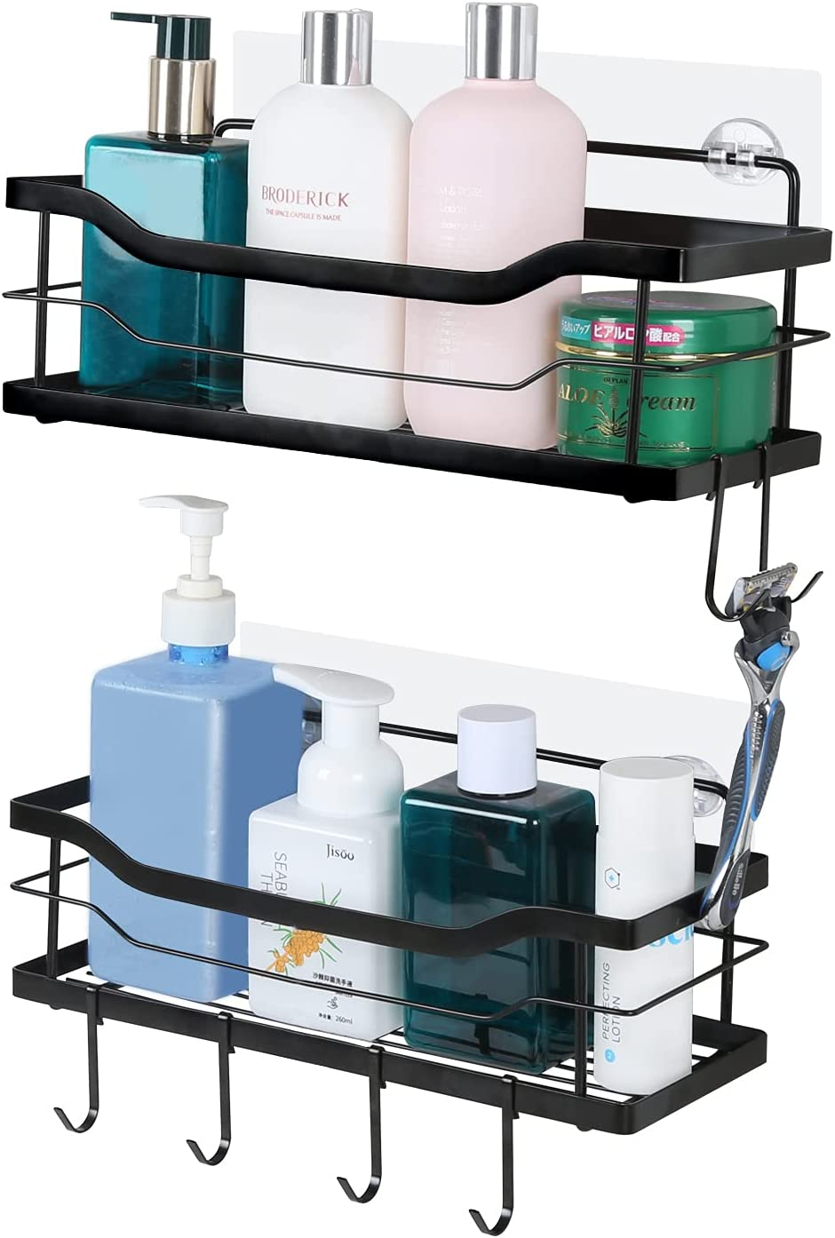 Shower Caddy Basket Shelf with 67% Ranking TOP17 OFF of fixed price Rac 2-Pack Bathroom Storage Hooks