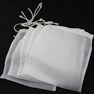 UP100® 5pcs Nylon Straining Bag - Fine Mesh - Homebrew Beer Wine Cider Dry Hop (9.5 x 14 inch(Width x Height))
