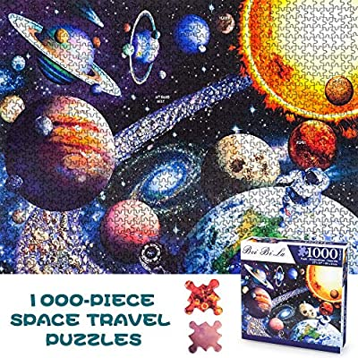 Jigsaw Puzzles 1000 Pieces, Space Jigsaw Puzzles 1000 Piece Puzzles for Adults Planets Puzzle for Kids Adults Educational Games Solar System Toys for Kids 14 Year Old Girls Boys Toy Birthday Gifts