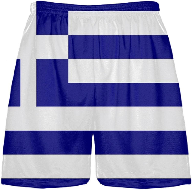 LightningWear Greek Flag ShortsSublimated Lacrosse ShortsGreece Flag Athletic ShortsBasketball Soccer
