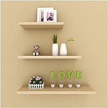 3 stks drijvende plank sets woondecoratie, houten muurbevestiging opbergrek voor woonkamer slaapkamer badkamer gang keuken...