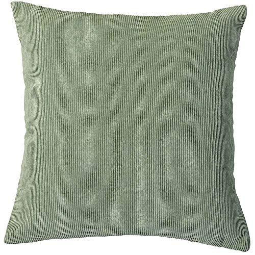 PimpamTex Kissen mit Füllung im Pana-Style für Bett, Stühle oder Sofas, 45 x 45 cm, Modell Pana Grün Tiffany