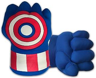 Incredible Superhero Boxing Gloves, Soft Plush Smash Hands Fists Cosplay Superhero Costume Gloves, Superhero Toys for Boys Girls, Toddlers, Birthday, Halloween, Christmas Xmas Gifts, Blue