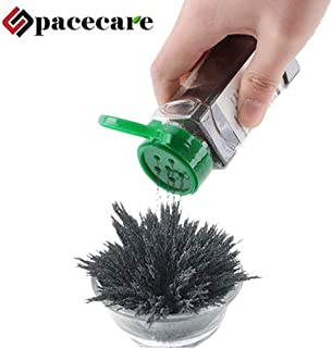 SPACECARE Magnetic Iron Powder for Magnet Education Iron Filing Jar (12 Ounces) with Shaker lid