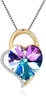 Collares Mujer Plata Colgante ''Amor por Siempre'' con Cristal de Swarovski Joyas Mujer, Dia de la Madre Regalos Originale...