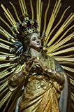 Golden Statue Of Our Lady Of Victories In Mellieha Malta