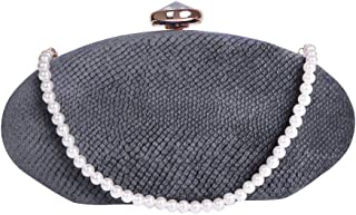 Womens Evening Clutch Bags Pearl Beaded Cocktail Handbag for Prom Bride Wedding with Shoulder Strap
