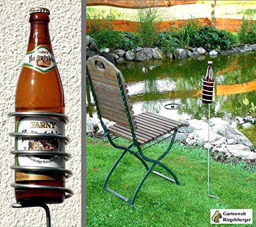Gartenwelt Riegelsberger 2 Stück Bierflaschenhalter 100 cm Flaschenhalter Bierflasche Bier