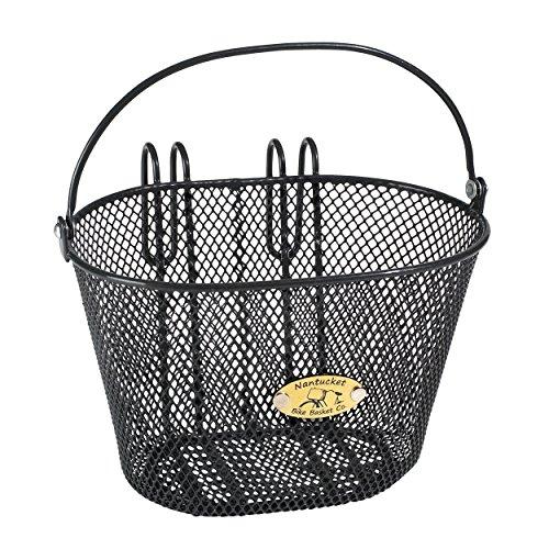 Nantucket Bike Basket Co Kid's Surfside Mesh Wire Basket, Charcoal Grey, 9.8 x 6.8 x 6.3''