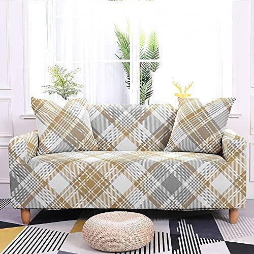 MKQB Funda de sofá elástica de celosía geométrica Simple para Sala de Estar,...