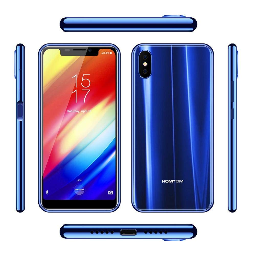 Teléfono móvil HOMTOM H10 Smartphone 3500 mAh 5.85 Pulgadas 4 GB 64 GB Smartphones Cámara Smart Cell Teléfono Android 8.1 Teléfono Móvil Cara ID Fingerprint ID MTK6750T Octa Core 16 MP 8 MP OTA OTG: Amazon.es: Electrónica