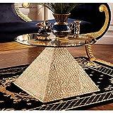 Design Toscano Große ägyptische Pyramide von Gizeh, Skulpturaler Tisch mit Glasplatte