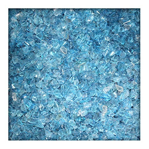 Kieskönig Glassplitt Glasbruch Glassteine Glas Splitt Deko Körnung 5-10 mm Light Blue 20 kg