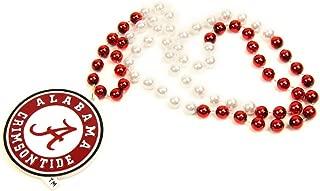 Alabama Crimson Tide Mardi Gras Party Beads Necklace