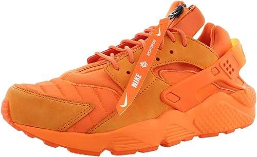 NIKE Mens Air Huarache Run QS Orange Blaze/Midnight Navy/White ...