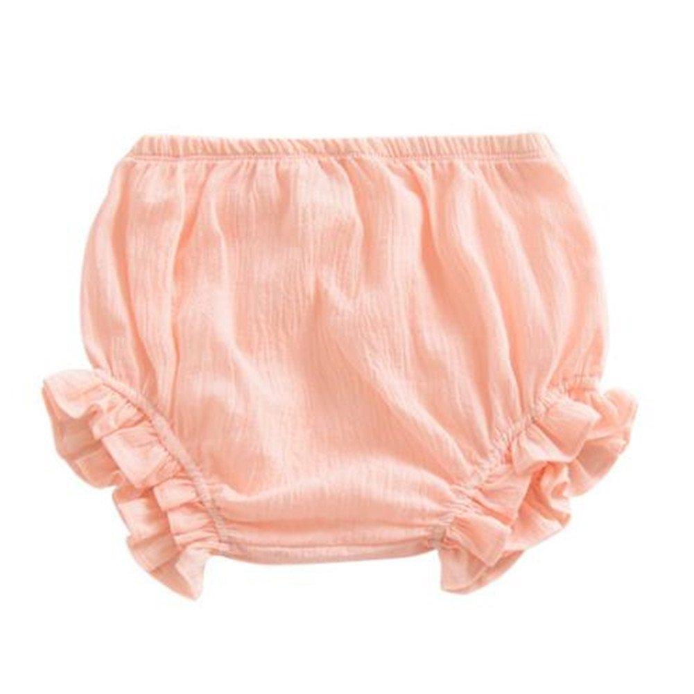 LOOLY Unisex Baby Girls Boys Cotton Linen Blend Bloomer Shorts