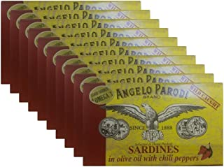 Angelo Parodi - Sardines in Olive Oil with Chili Peppers (10-pack)