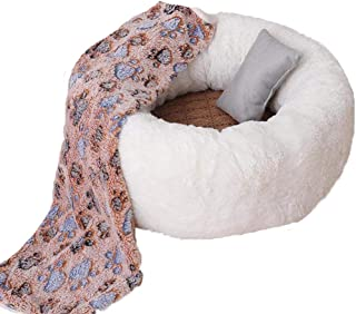 Cat Bed Faux Fur Pet Furniture,Dog Bed,Cat Bedding,Cat Dount,Gift for Pet Lover,Winter Pet Bedding