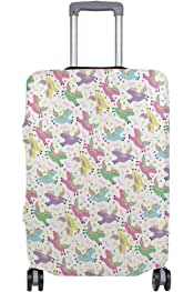 Line Unicorn Sketch Travel Suitcase Protector Zipper Suitcase Cover Elastic
