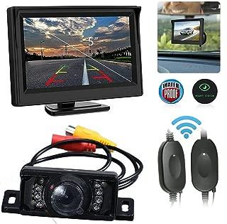 HD Cam/éra de Recul Vue de Face//Arri/ère//Arri/ère de Voiture Rotative CCD 360 Degr/és Rotative DragonPad Camera de Recul