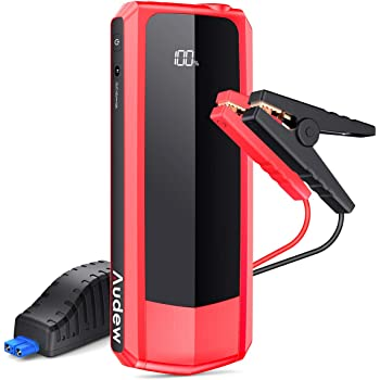 Audew Upgraded Car Jump Starters, Jump Box 2000A Peak 20000mAh Battery Charger Automotive(up to All Gas and 8.5L Diesel), 12V Battery Booster with 3 Modes LED Flashlight and Dual QC USB Ports