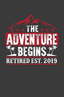 The Adventure Begins Retired Est. 2019: A Thoughtful Retirement Card Alternative (Retirement Gift Card Series)