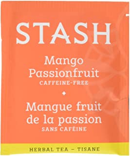 Stash Tea Mango Passionfruit Herbal Tea 100 Count Box of Tea Bags in Foil (packaging may vary) Individual Herbal Tea Bags ...