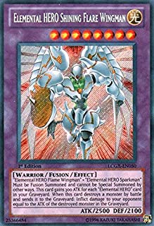 Yu-Gi-Oh!! - Elemental Hero Shining Flare Wingman (LCGX-EN050) - Legendary Collection 2 - 1st Edition - Secret Rare