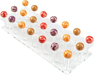NIUBEE Lollipop Display Stand, Clear Acrylic Cake Pop Holder for Baby Shower on Candy Table - 21 Holes
