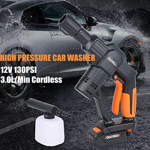 Limpiador de alta presión inalámbrico de 12 V, pistola de alta presión + manguera + kit de pistola