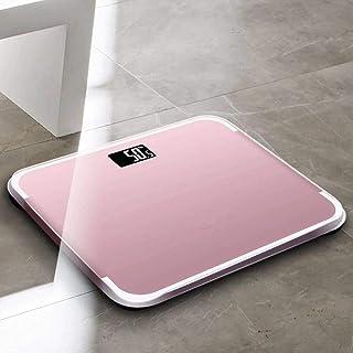 ZKYXZG Escala de peso Báscula de peso digital inteligente Báscula de baño Báscula de grasa corporal Calorías LED Músculo Báscula de baño Báscula 0.5-180 kg, rosa