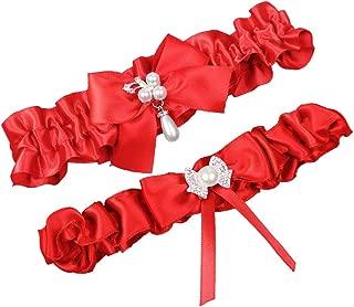 Satin Ribbon Wedding Bridal Garter Belt Set Toss Away Prom Garters
