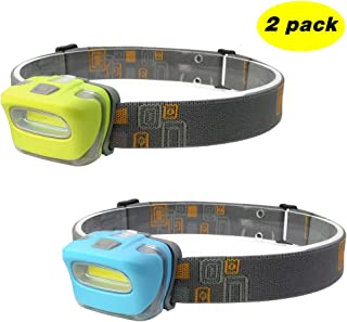 Blinkle Headlamp LED Headlamps 165 Lumen Brightest AAA Battery Powered Lightweight with 3 Modes Waterproof for Biking Hiking Running (2pack)