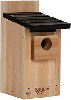 Nature's Way Bird Products CWH3 Cedar Bluebird Box House, 12'' X 7.5'' X 8.125'', Dark Wood (Renewed)