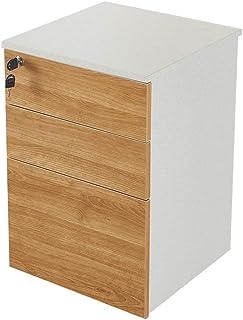 Classeur à 3 couches, stockage d'activité de données avec armoire de bureau mobile Lock, (60x40x40cm)