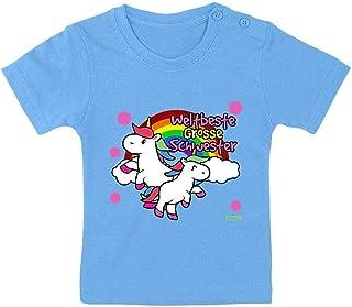 HARIZ Camiseta para bebé con diseño de hermana con unicornio y arcoíris