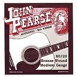 John Pearse 300M - Set de cuerdas para guitarra ac?stica (calibre 013-056, bronce)