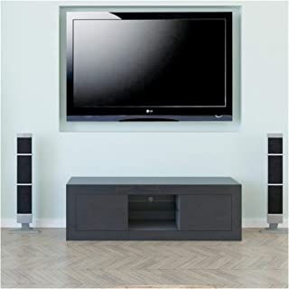 Two Door TV Cabinet Bedside Cabinet Black Home TV Cabinet with Living Room Storage Space Annacboy (Color : 1)