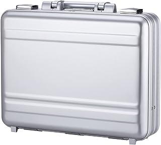 fd5b23c5f84e2 Tokers Metal briefcases for men Aluminum Attache cases Gun Metal 14 Inch  14.5X10.6X4