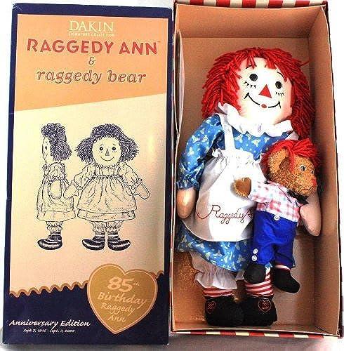 Dakin 23 Raggedy Ann & Raggedy Bear 85th Birthday Anniversary Doll - Limited Edition by Dakin
