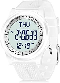 Beeasy Digital Watch Waterproof with Stopwatch Alarm Countdown Dual Time, Ultra-Thin Super Wide-Angle Display Digital Wris...