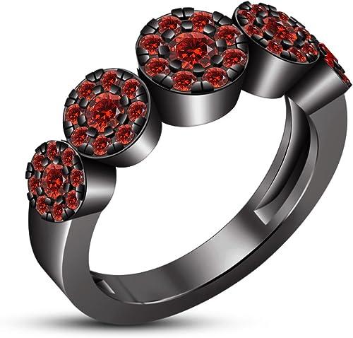 Vorra Fashion Damen Verlobungsring Band Ring in Schwarzrhodiniert 925 erling Silber Schmuck