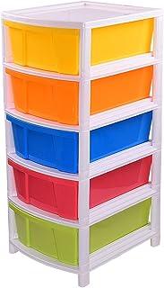 Aristo Multipurpose 5 Drawer Plastic Modular Chest Storage Organizer(Multicolor,Standard,36.5 x 31 x 40.3cms)