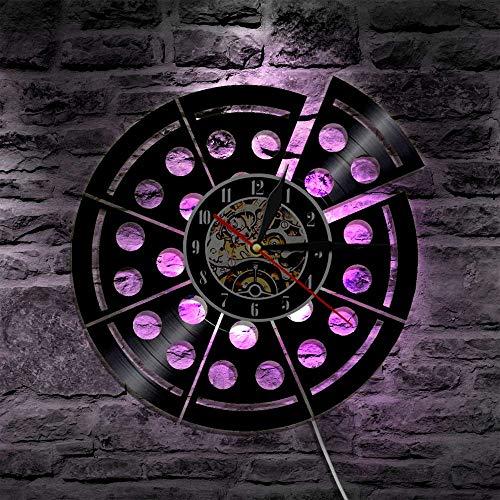 led pilz nachtlicht 1 stück pizza design LED licht farbwechsel fast food wandleuchte mit fernbedienung LED hintergrundbeleuchtung für pizzeria dekoration groß shabby chic tischlampe