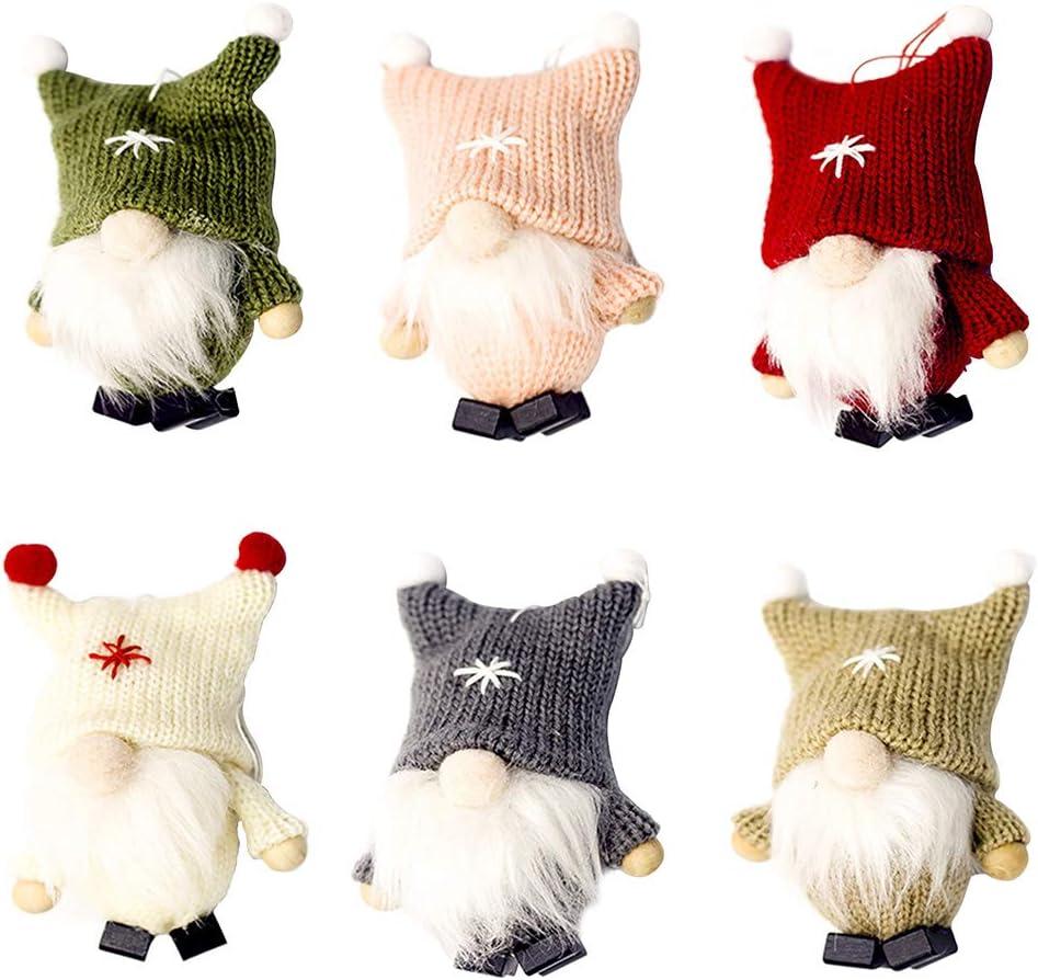 GEZICHTA 6pcs Don't miss the campaign Swedish Gnome Christmas Houston Mall Hanging Pendan Plush Tomte